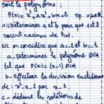 Exercice 1 sur les polynômes